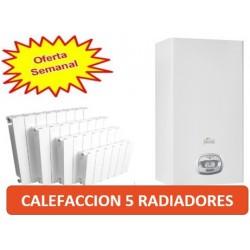 CALEFACCION 5 RADIADORES CON CALDERA